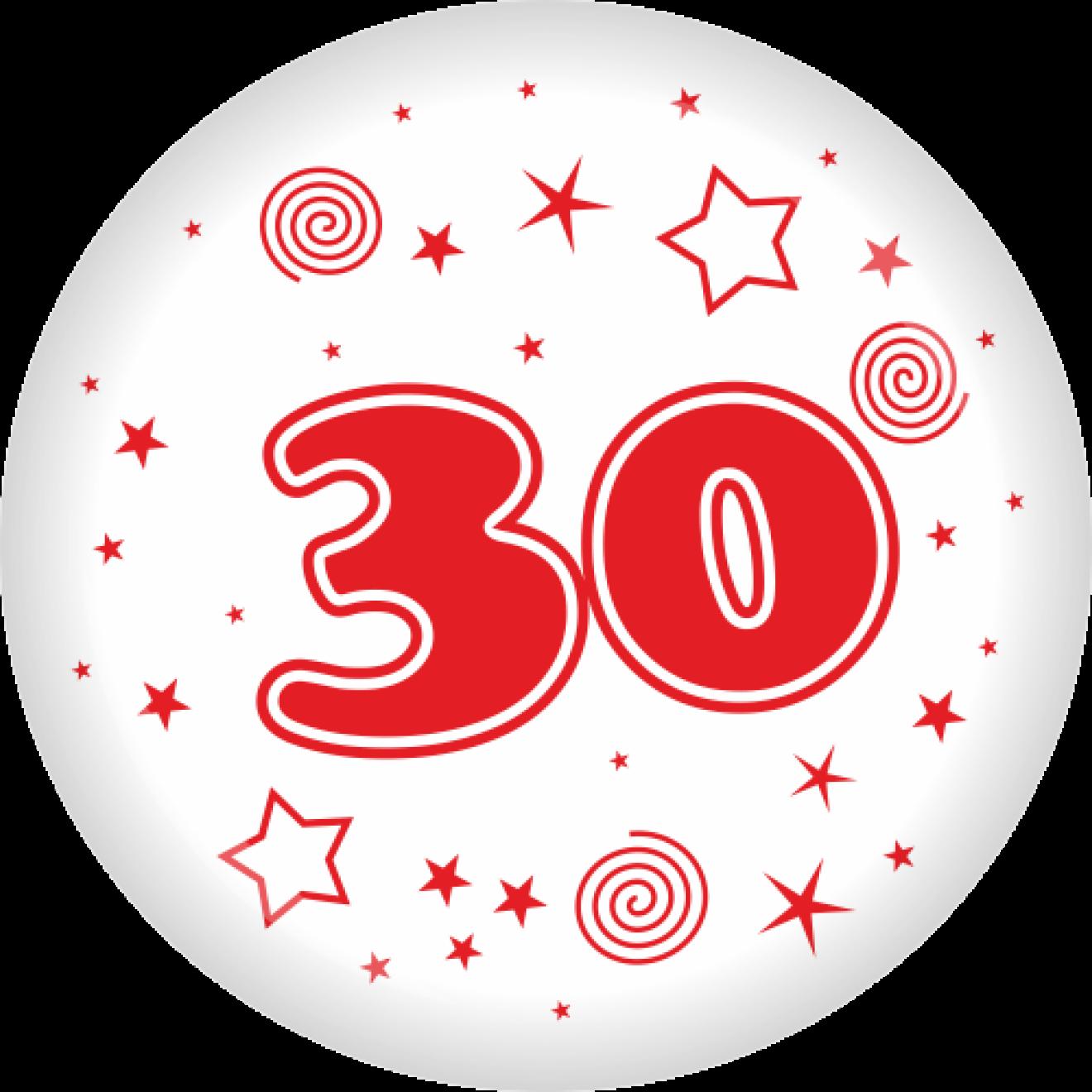 Button zahl 30 50 mm for Geburtstagsdeko 30