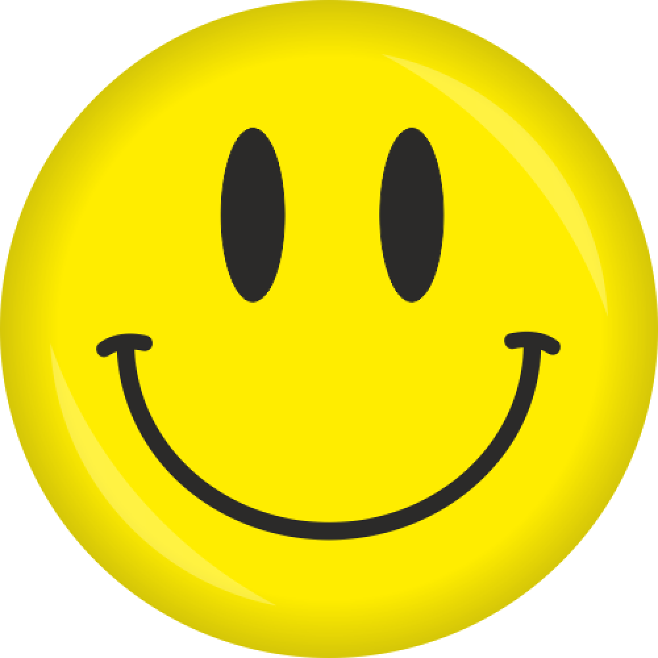 Button Smiley - Gelb - Ø 50 mm