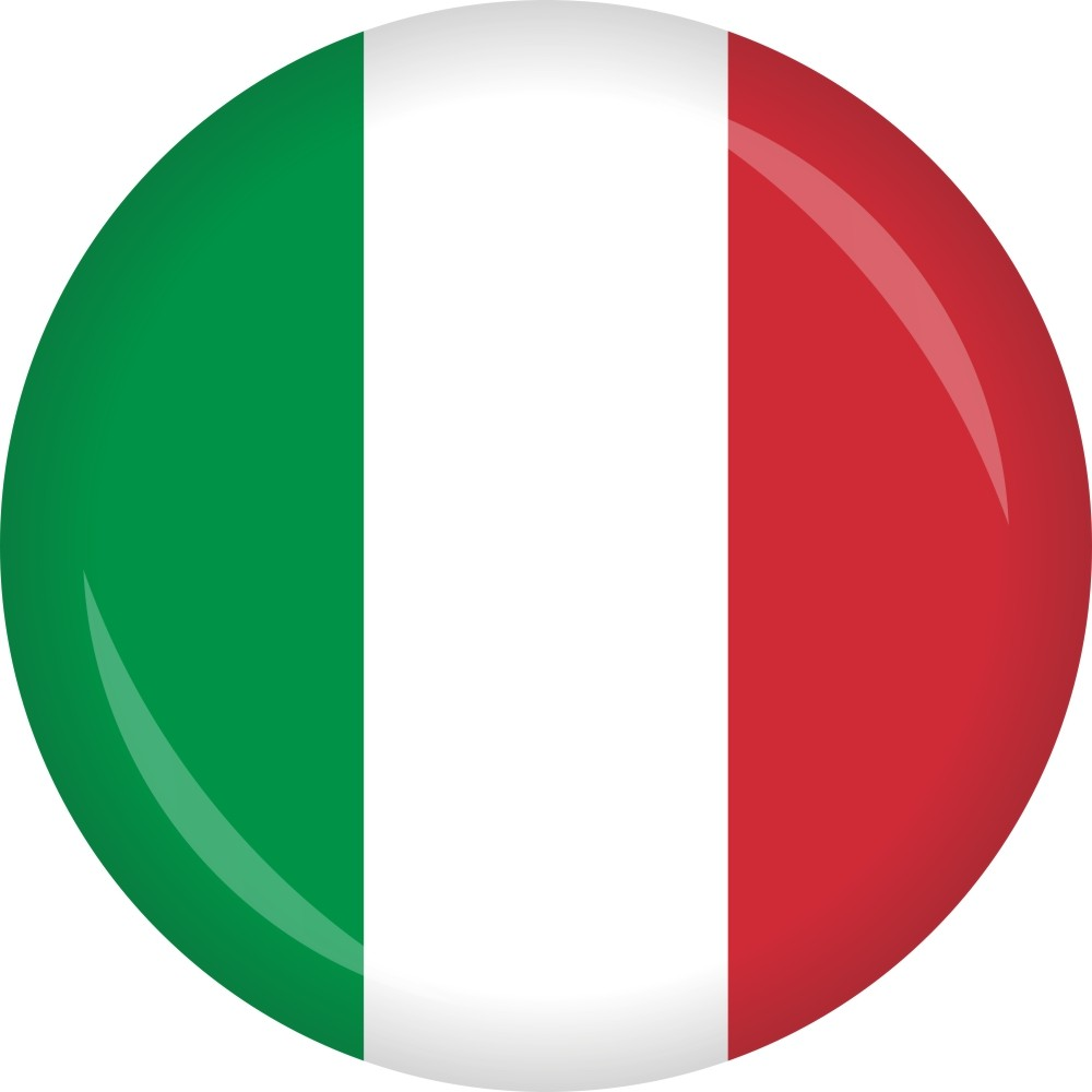 Button Italien Flagge Ø 50 mm