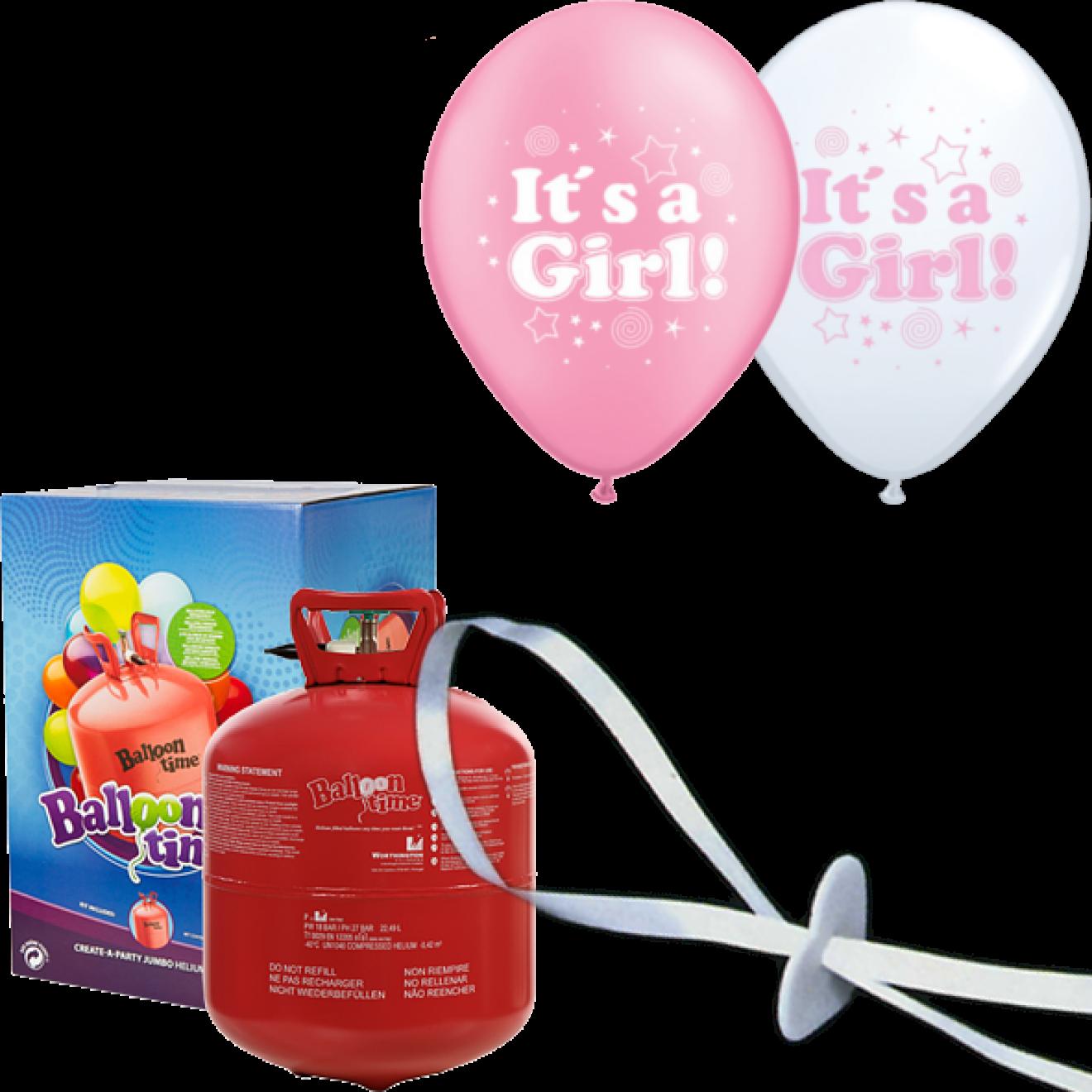 helium set luftballons geburt it s a girl m dchen. Black Bedroom Furniture Sets. Home Design Ideas