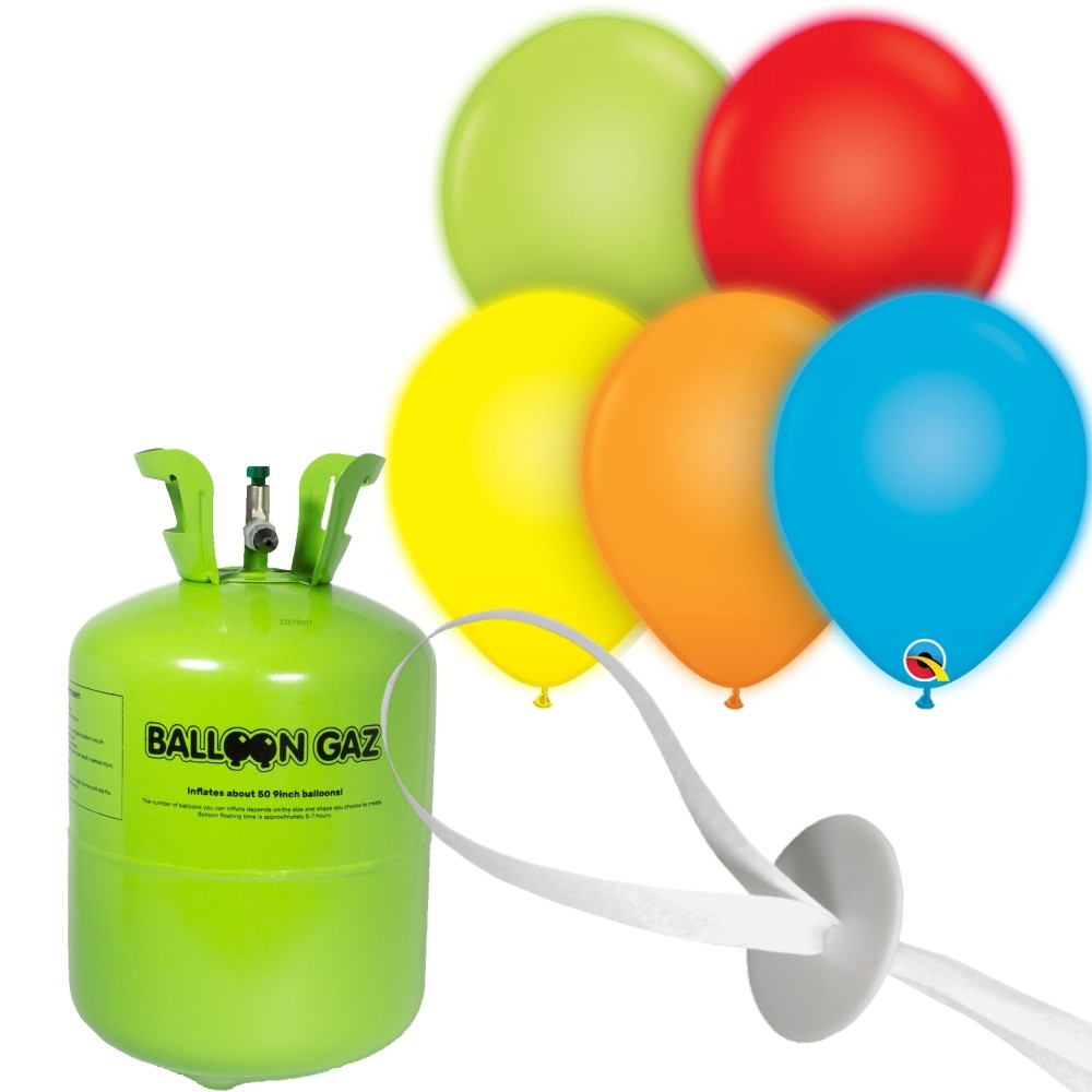 helium set led luftballons 28 cm freie farbwahl. Black Bedroom Furniture Sets. Home Design Ideas