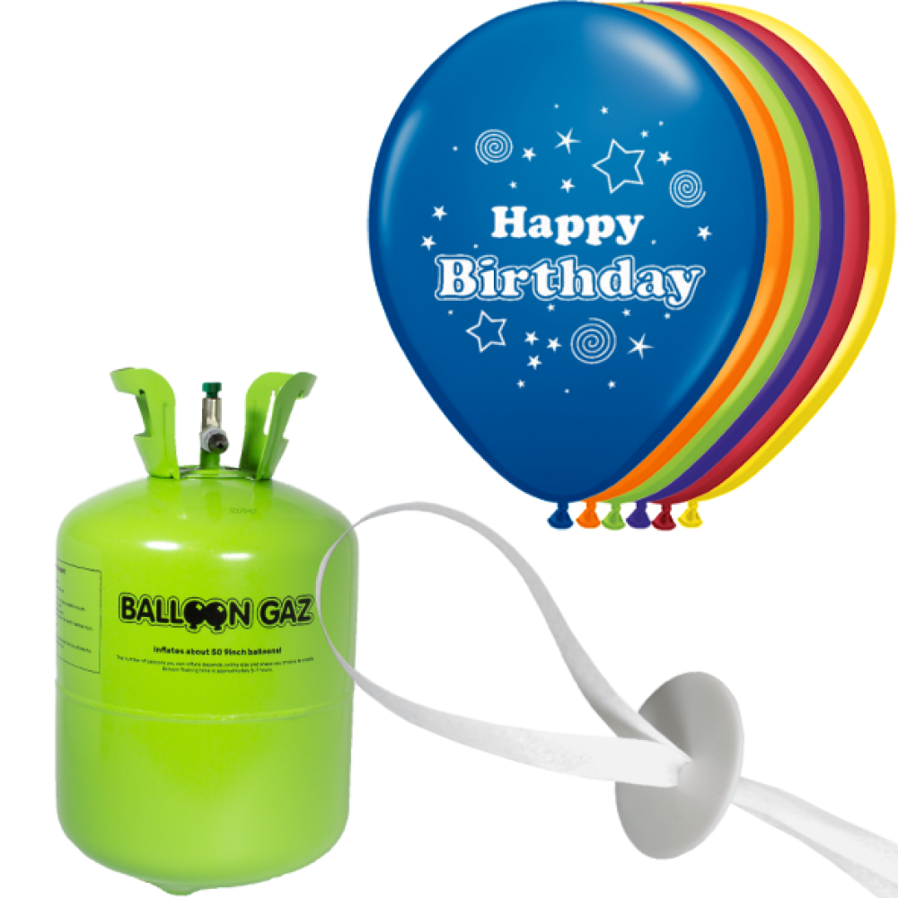 helium set luftballons geburtstag happy birthday. Black Bedroom Furniture Sets. Home Design Ideas