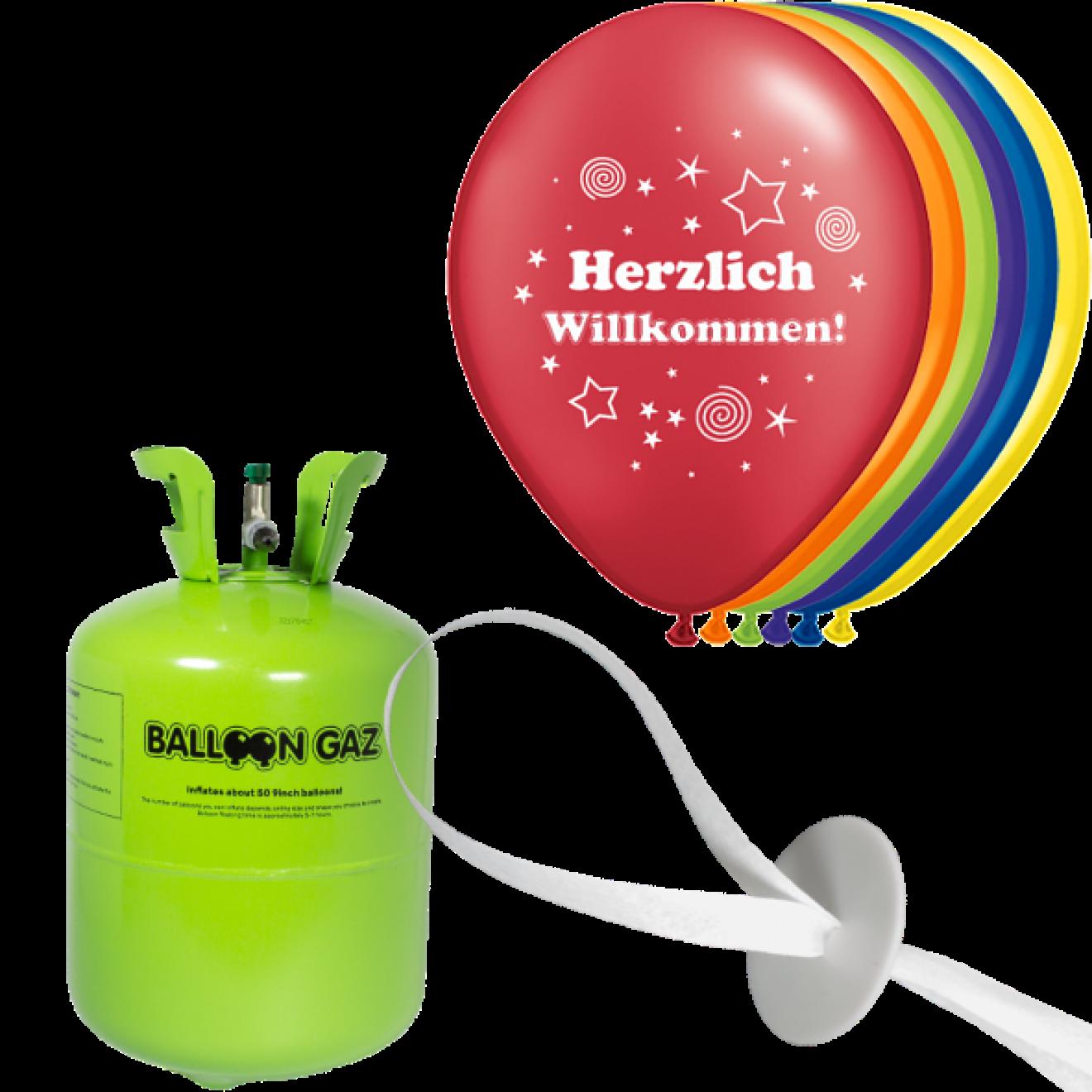 helium set luftballons herzlich willkommen. Black Bedroom Furniture Sets. Home Design Ideas