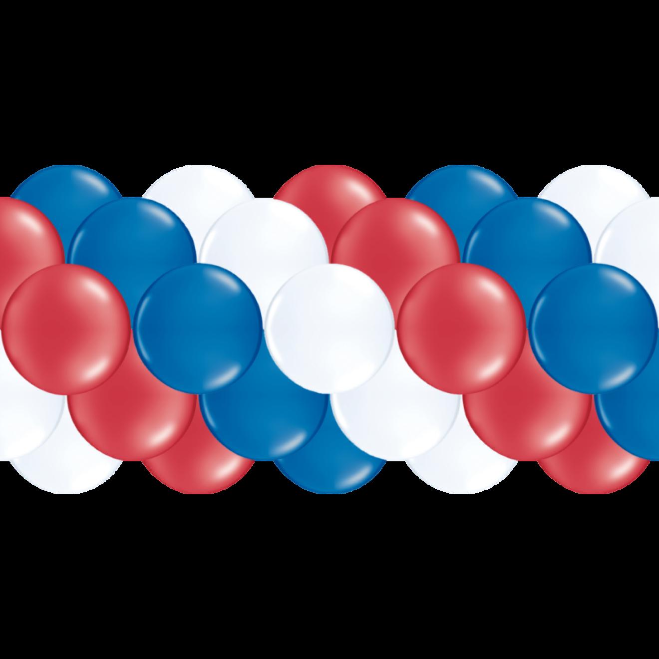 Luftballongirlanden-Set Frankreich: Blau, Weiß, Rot Ab 3 M
