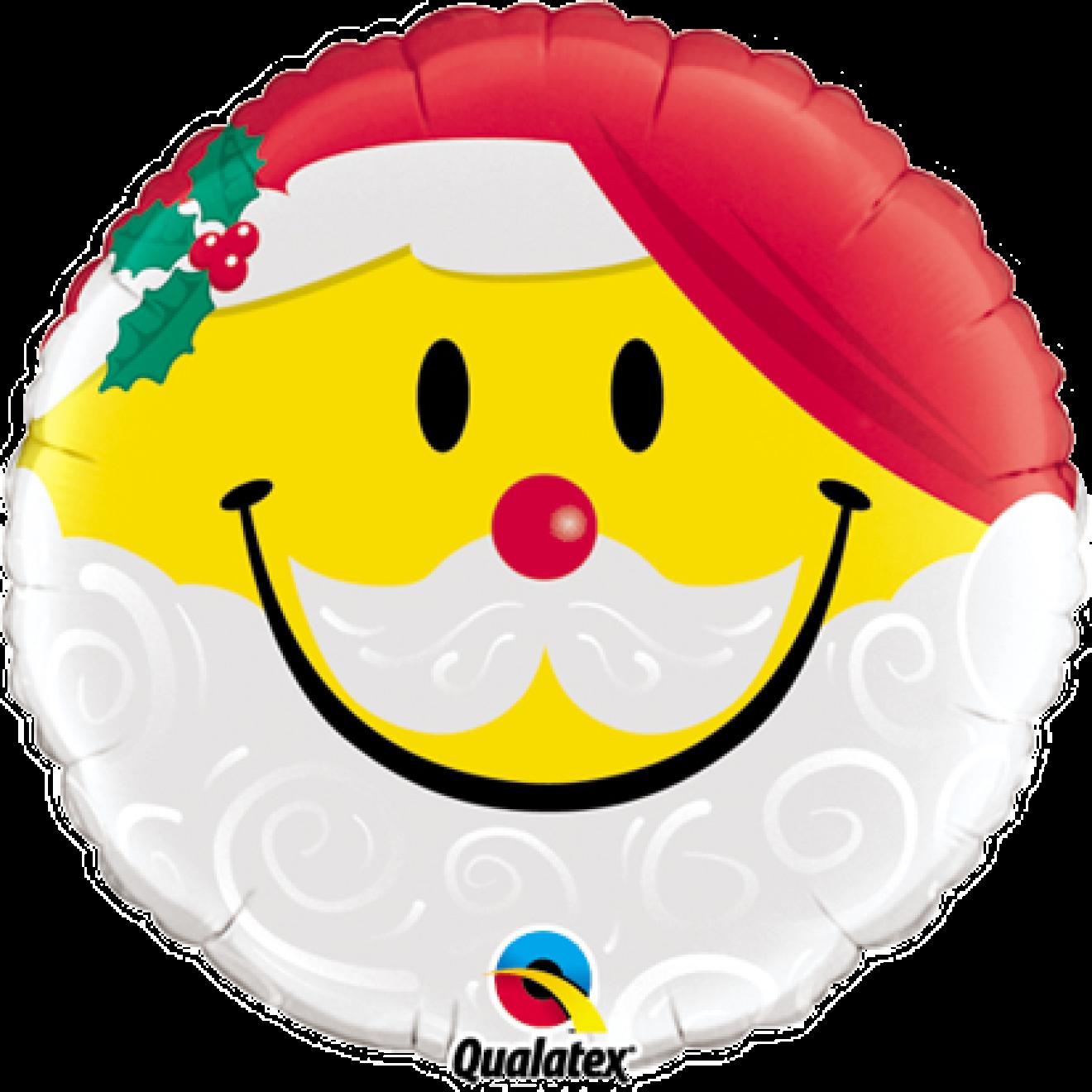 Ballonpost Weihnachten: Smiley - Weihnachtsmann