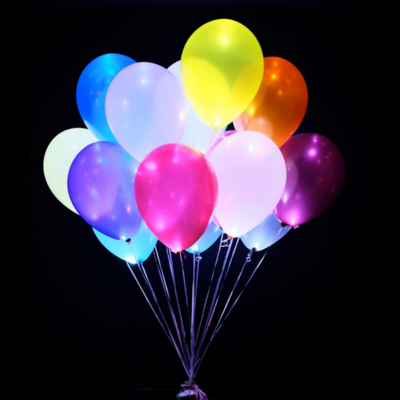 led dekolichter wei luftballons freie farbauswahl 30 cm. Black Bedroom Furniture Sets. Home Design Ideas