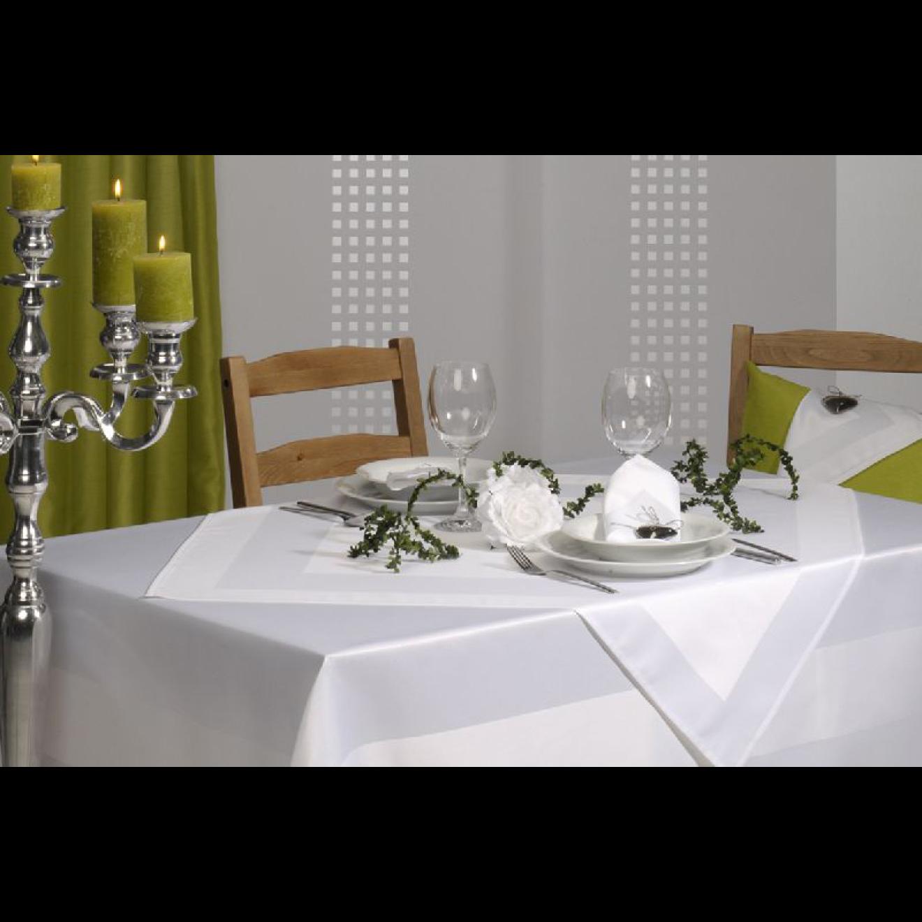tischdecke wei 160 cm x 130 cm. Black Bedroom Furniture Sets. Home Design Ideas