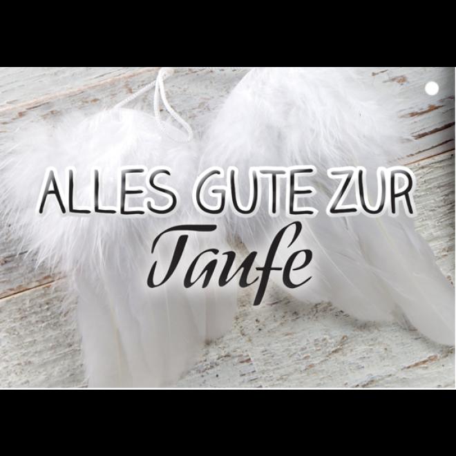 Ballonkarten Wettflugkarten Alles Gute Zur Taufe Federflügel Art Nr 403350 Ean 4260271140508 Hersteller Partydiscount24