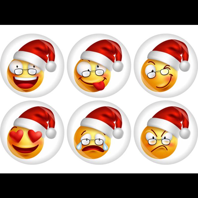 button smiley emoji weihnachten 50 mm. Black Bedroom Furniture Sets. Home Design Ideas