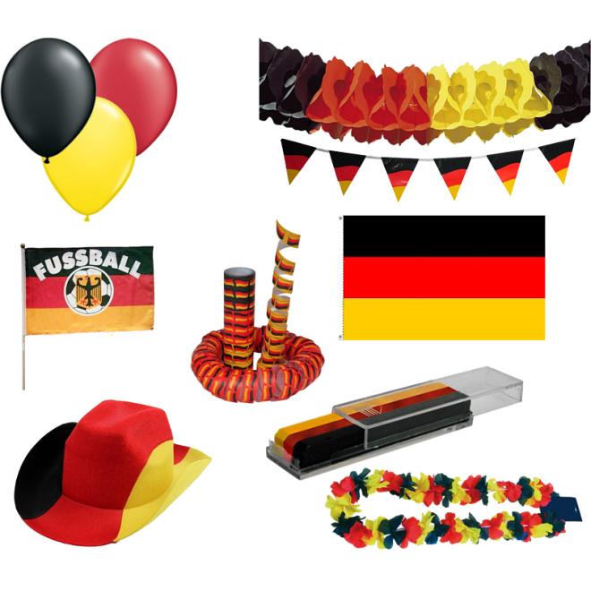 Deko set deutschland fu ball em 48 teile for Deko deutschland