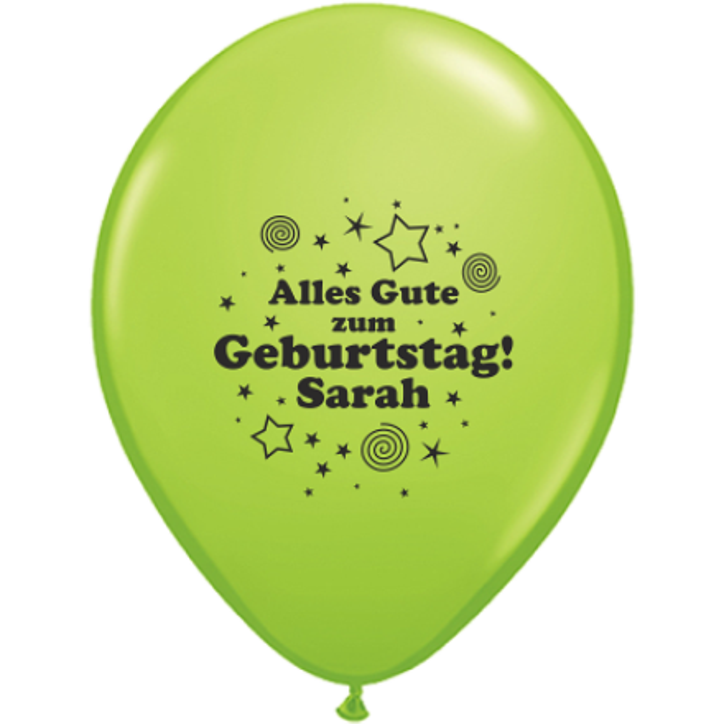 Luftballons Bedrucken Geburtstag Alles Gute Zum Geburtstag Name O