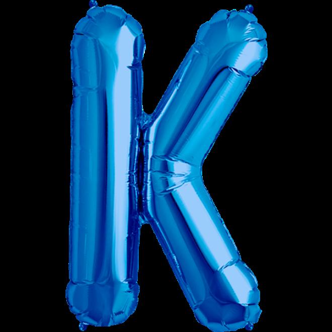 folienballon buchstabe k blau 40 cm