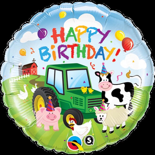 Ballonpost Geburtstag Happy Birthday Bauernhof