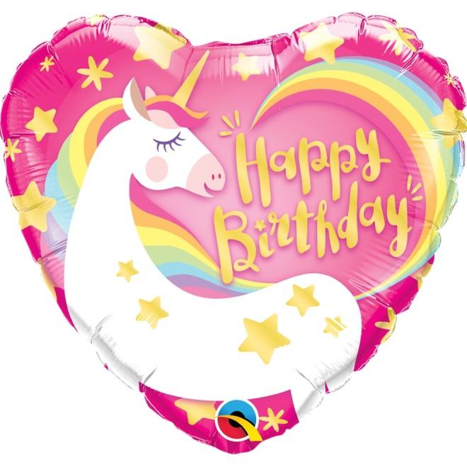 Happy Birthday Einhorn Herz Ballonpost Geburtstag Qualatex