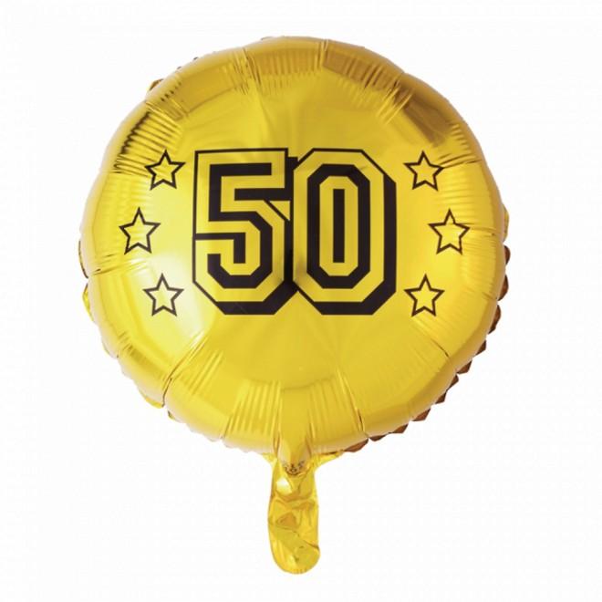 "Ø 45 cm /""50/"" gold Jubiläum ungefüllt Folienballon"