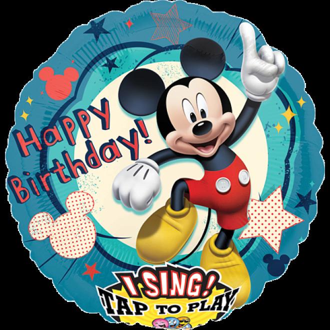 Folienballon Happy Birthday Mickey Mouse Singender Ballon ø 71 Cm