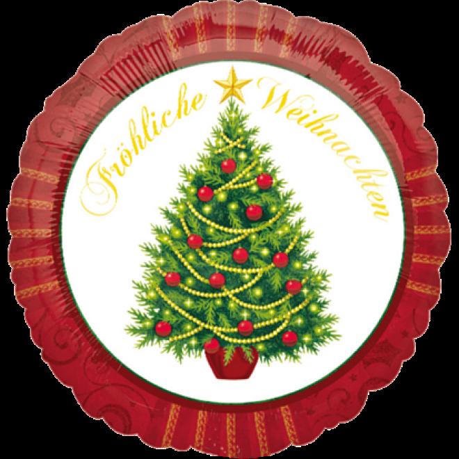 Weihnachtsbaum Weihnachten.Folienballon Fröhliche Weihnachten Weihnachtsbaum ø 45 Cm
