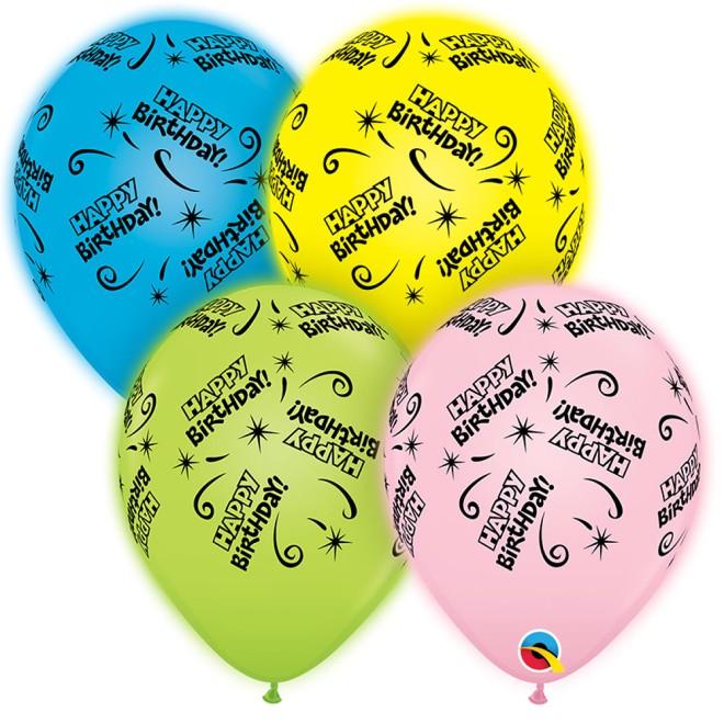 LED Balloons Happy Birthday Mix 2