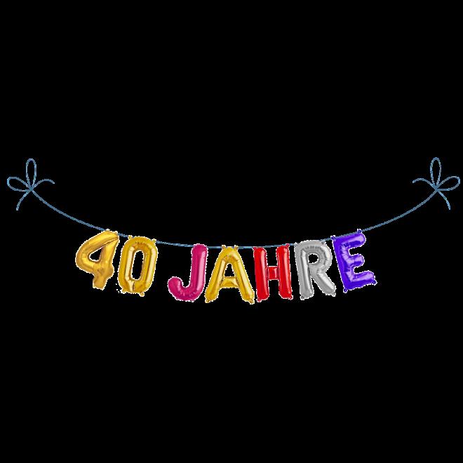 Buchstaben Girlande Folienballons 40 Jahre