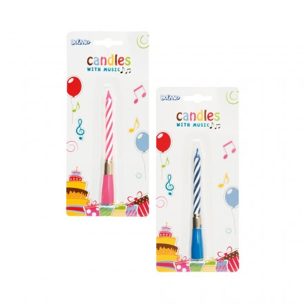 Birthday Candles With Music Blue Or Pink