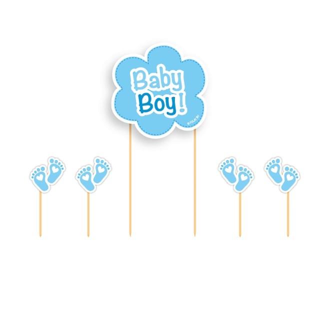 Kuchendeko Set Baby Boy Junge 5 Teile