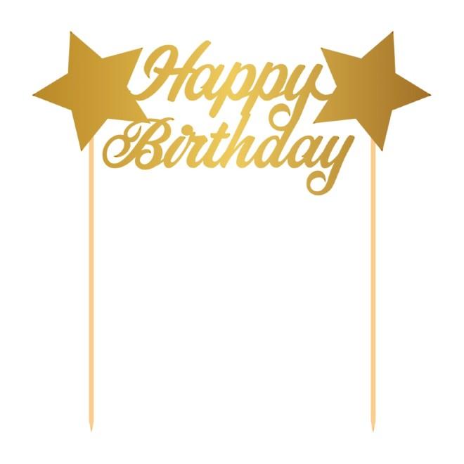 Kuchendeko Set Happy Birthday 3 Teile