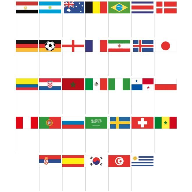 Papierfahnchen Freie Auswahl Wm 2018 Teilnehmer