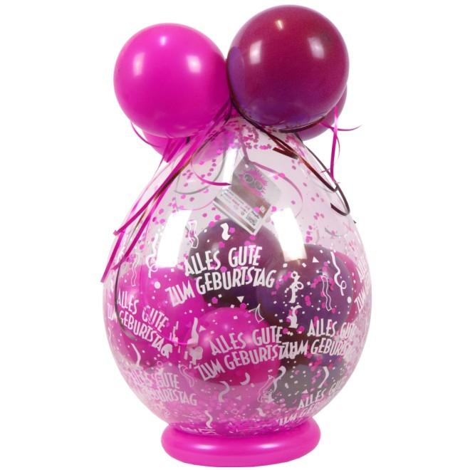 Verpackungsballon Geschenkballon Alles Gute Zum Geburtstag Pink