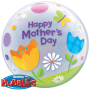 Bubble Ballon Happy Mother`s Day (Muttertag) Ø 56 cm - Qualatex -