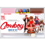Schmink Set Cowboy mit Pinsel & Make Up Entferner
