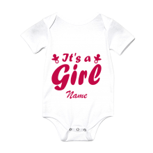 "Babybody - ""It's a Girl"" + Name - Freie Farbwahl"