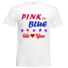 "T-Shirt - ""Pink or Blue"" - Freie Farbwahl"