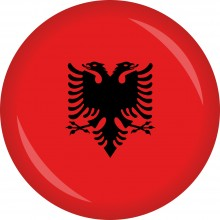 Button Albanien Flagge Ø 50 mm