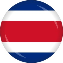 Button Costa Rica Flagge Ø 50 mm