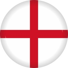 Button England Flagge Ø 50 mm