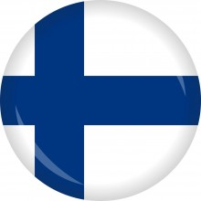 Button Finnland Flagge Ø 50 mm