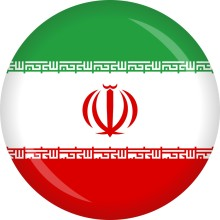 Button Iran Flagge Ø 50 mm