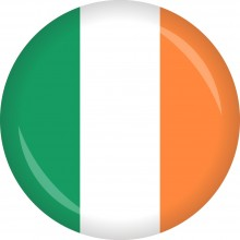 Button Irland Flagge Ø 50 mm