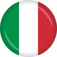 Button Italien Flagge Ø 50 mm