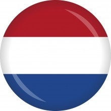 Button Niederlande Flagge Ø 50 mm