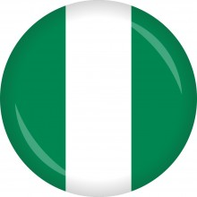 Button Nigeria Flagge Ø 50 mm