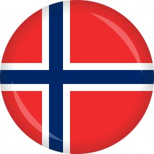 Button Norwegen Flagge Ø 50 mm