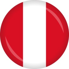 Button Peru Flagge Ø 50 mm