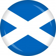 Button Schottland Flagge Ø 50 mm