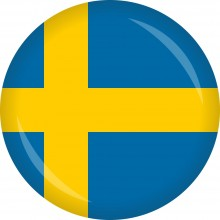 Button Schweden Flagge Ø 50 mm