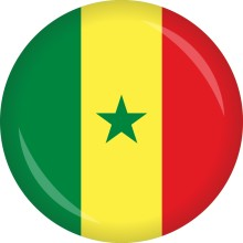 Button Senegal Flagge Ø 50 mm