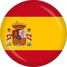 Button Spanien Flagge Ø 50 mm