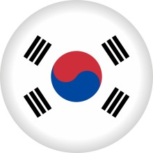Button Südkorea Flagge Ø 50 mm
