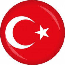 Button Türkei Flagge Ø 50 mm