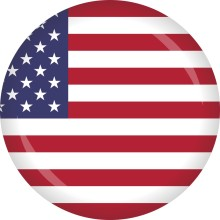 Button USA Flagge Ø 50 mm